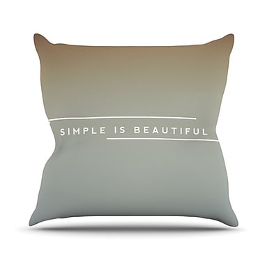 KESS InHouse Simple Beautiful Throw Pillow; 16'' H x 16'' W