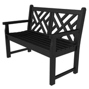 POLYWOOD  Chippendale 48'' Plastic Bench; Black