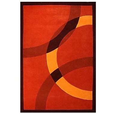 Acura Rugs Contempo Dark Orange/Yellow Area Rug; 8' x 10'6''