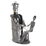 H & K SCULPTURES Doctor w/ Patient 1 Bottle Tabletop Wine Rack