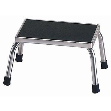 Brewer 1-Step Steel Step Stool w/ 350 lb. Load Capacity