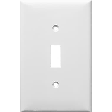 Morris Products 1 Gang Oversize Lexan Wall Plates for Toggle Switch in White