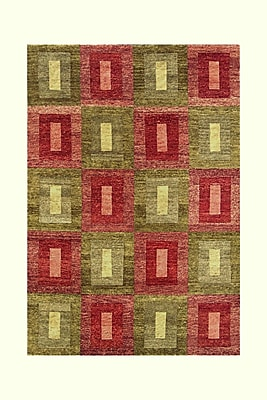 Noble House Legacy Green/Rust Rug; 6' x 9'