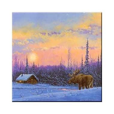 McGowan Tuftop Van Zyle Moose and Cabin Trivet