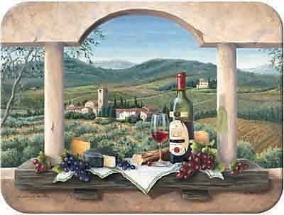 McGowan Tuftop Wine Country Cutting Board; Small (9''x12'')