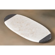 Creative Home The Byzantine Two Tone Marble Oval Board in Charcoal / Champagne