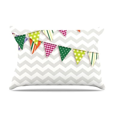 KESS InHouse Flags 1 Pillowcase; Standard