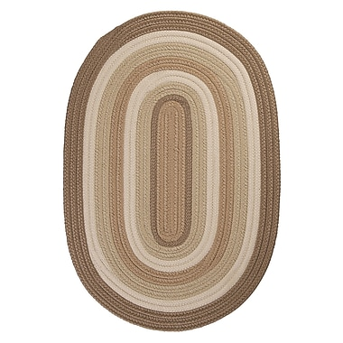 Colonial Mills Brooklyn Hand Braided Natural Indoor/Outdoor Area Rug; Oval 8' x 11'