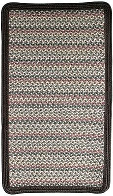 Thorndike Mills Pioneer Valley II Autumn Wheat w/ Dark Brown Solids Multi Square Rug; Square 2'