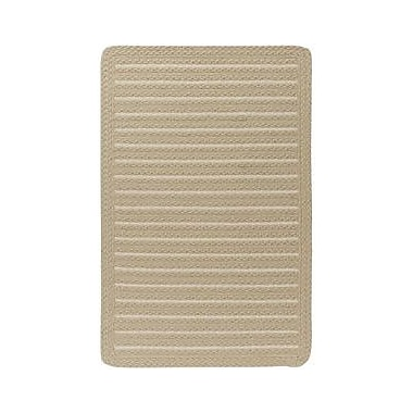 Capel Boathouse Natural Indoor/Outdoor Area Rug; Cross Sewn Square 5'6''