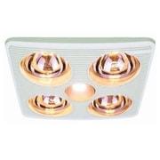 Aero Pure 90 CFM Bathroom Fan w/ Heater and Light; White
