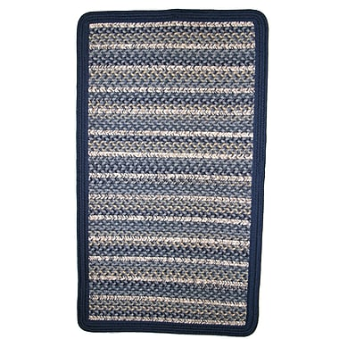 Thorndike Mills Beantown Charles River Blue Area Rug; Square 4'