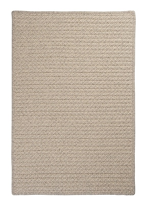 Colonial Mills Natural Wool Houndstooth Braided Cream Area Rug; Rectangle 10' x 13'