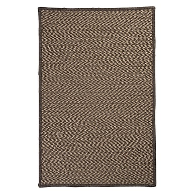 Colonial Mills Natural Wool Houndstooth Braided Caramel Area Rug; Rectangle 12' x 15'