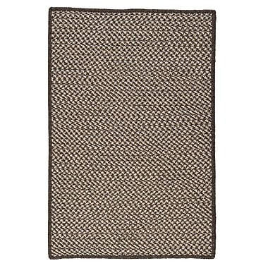 Colonial Mills Natural Wool Houndstooth Braided Espresso Area Rug; Square 10'