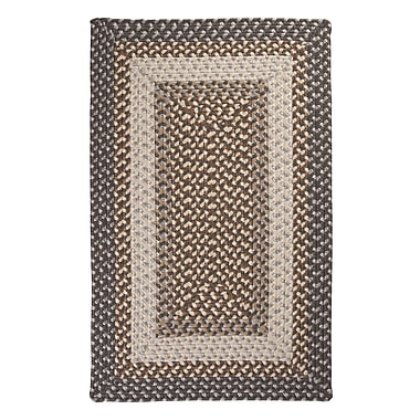 Colonial Mills Tiburon Misted Grey Braided Indoor/Outdoor Area Rug; Square 4'