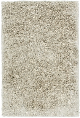 Capel Trolley Line Ivory Area Rug; Rectangle 8' x 11'