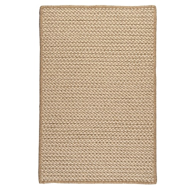 Colonial Mills Natural Wool Houndstooth Braided Tea Area Rug; Rectangle 3' x 5'