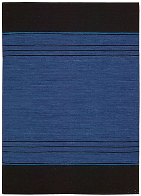 Calvin Klein Rugs Plateau Woven Bands Sapphire Area Rug; Rectangle 5'3'' x 7'5''
