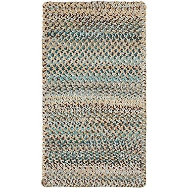 Capel Ocracoke Deep Blue Area Rug; Cross Sewn 7' x 9'
