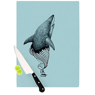 KESS InHouse Shark Record II Cutting Board; 11.5'' H x 8.25'' W x 0.25'' D