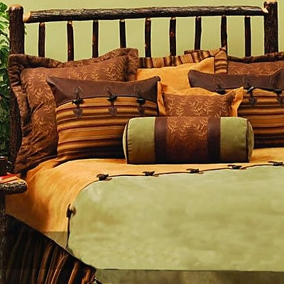 Wooded River Autumn Leaf 4 Piece Coverlet Set; King