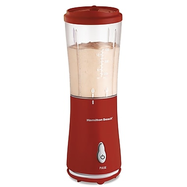 Hamilton Beach Personal Blender w/ Travel Lid; Red