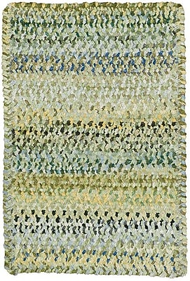 Capel Ocracoke Pale Green Area Rug; Oval 4' x 6'