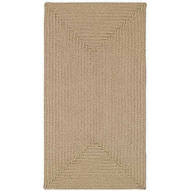 Capel Manteo Beige Area Rug; Oval 8' x 11'