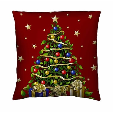 Filos Design Holiday Elegance Elegant Tree Silk Throw Pillow
