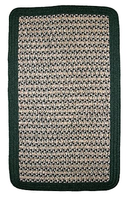 Thorndike Mills Town Crier Green Indoor/Outdoor Rug; Square 4'