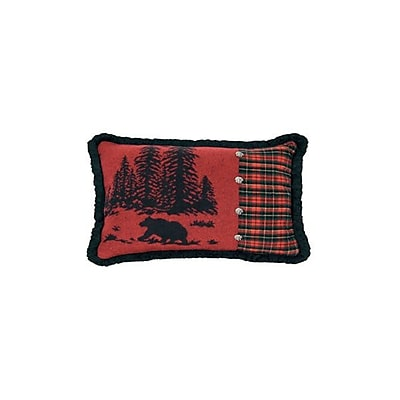 Wooded River Wooded River Bear Plaid Lumbar Pillow