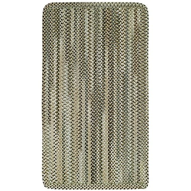 Capel Manchester Beige Hues Area Rug; Concentric Square 3'