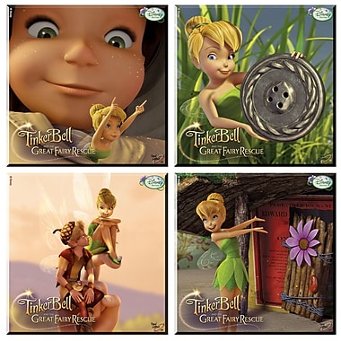 Trend Setters Tinker Bell and the Great Fairy Rescue Glass Print Coaster (Set of 4)