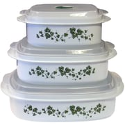 Corelle Impressions Callaway Microwave Cookware 3 Container Food Storage Set