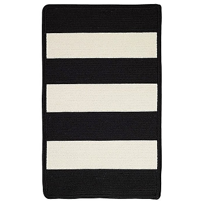Capel Willoughby Black/White Indoor/Outdoor Area Rug; Cross Sewn 9'2'' x 13'2''