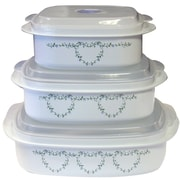 Corelle Livingware Memphis Microwave Cookware 3 Container Food Storage Set