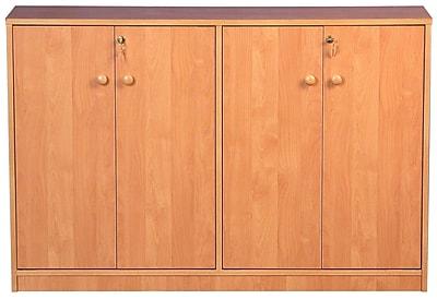 Venture Horizon VHZ Entertainment Double Multimedia Storage Cabinet; Oak