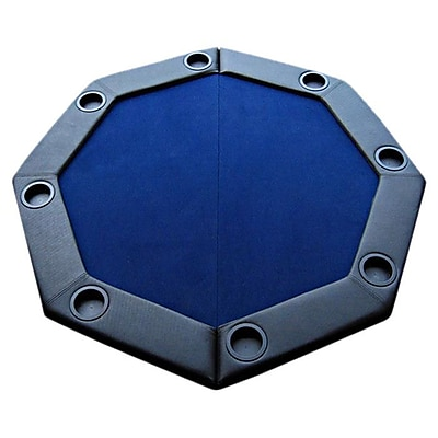JP Commerce Padded Octagon Folding Poker Table Top; Blue WYF078276216966