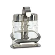 Cuisinox Salt and Pepper Shakers w/ Caddy in Brushed Satin