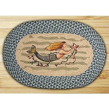 EarthRugs Mermaid Printed Area Rug; Oval 1'8'' x 2'6''