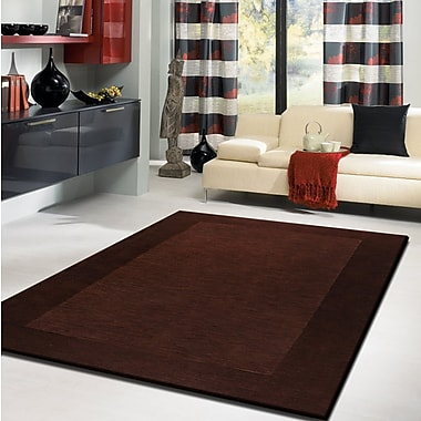 Rug Factory Plus Amore Shag Solid Brown Area Rug; 7'6'' x 10'2''