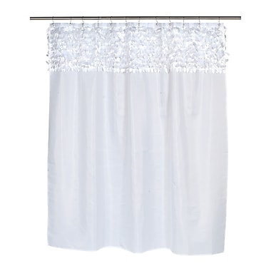 Carnation Home Fashions Jasmine Shower Curtain; White