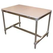 PVIFS Aluminum I Frame Prep Table; 34'' H x 30'' W x 24'' D
