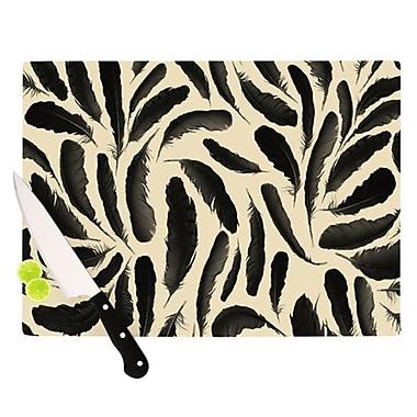 KESS InHouse Feather Pattern Cutting Board; 11.5'' H x 15.75'' W