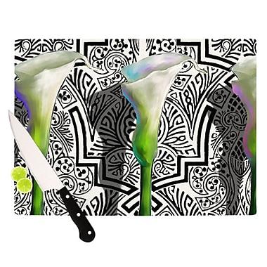 KESS InHouse Three Lily Cutting Board; 11.5'' H x 8.25'' W