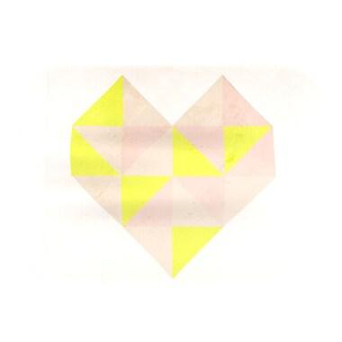 KESS InHouse Geo Heart Placemat; Pink