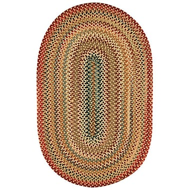 Capel Portland Gold Area Rug; Concentric Square 3'