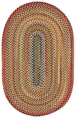 Capel Portland Gold Area Rug; Concentric 8' x 11'