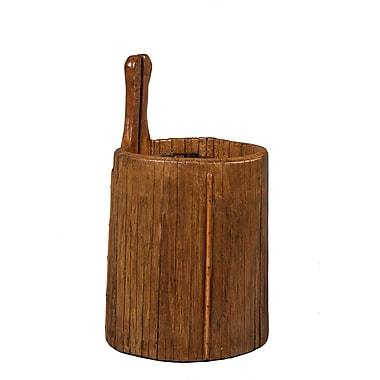 Antique Revival Wooden Vintage Ladle Bucket